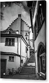 Basel Old Town In Black And White  Acrylic Print