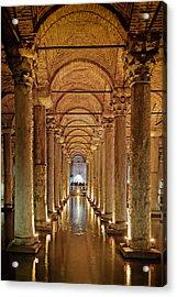 Basilica Cistern Under Istanbul Acrylic Print