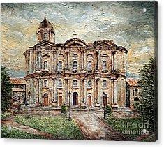 Basilica De San Martin De Tours Acrylic Print by Joey Agbayani