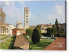 Basilica Di San Frediano With Palazzo Pfanner Gardens Acrylic Print by Kiril Stanchev