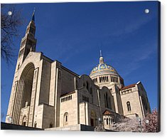 Basilica Of The National Shrine Of The Immaculate Conception Washington Dc Acrylic Print by Wayne Higgs