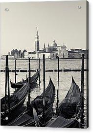 Basilica San Giorgio Maggiore And Gondolas Acrylic Print