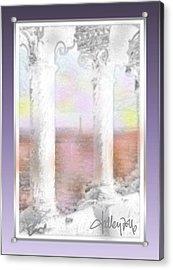 Sacre - Coeur Sunset Acrylic Print