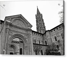 Acrylic Print featuring the photograph Basilique St Sernin In Toulouse by Cendrine Marrouat