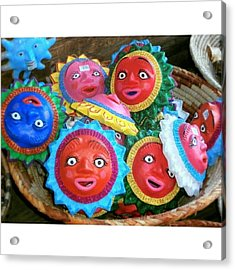 Basket Full Of Acrylic Print