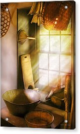 Basket Maker - In A Basket Makers House  Acrylic Print by Mike Savad