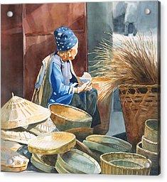 Basket Maker Acrylic Print by Sharon Freeman