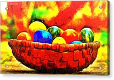 Basket Of Eggs - Da Acrylic Print