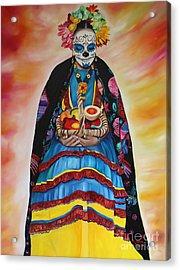 Basket Of Fruit Acrylic Print by Barbara  Rivera