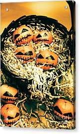 Basket Of Little Halloween Horrors Acrylic Print by Jorgo Photography - Wall Art Gallery