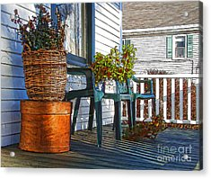 Acrylic Print featuring the photograph Basket Porch by Betsy Zimmerli