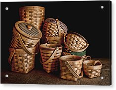 Basket Still Life 01 Acrylic Print by Tom Mc Nemar