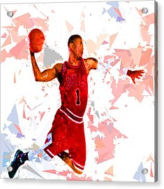 Acrylic Print featuring the painting Basketball 1 by Movie Poster Prints