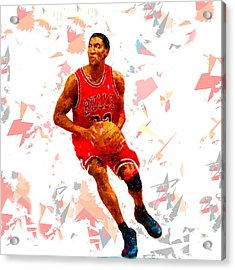 Acrylic Print featuring the painting Basketball 33 by Movie Poster Prints
