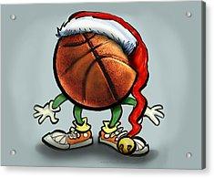 Basketball Christmas Acrylic Print by Kevin Middleton