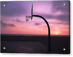 Basketball Court At Sunset Acrylic Print