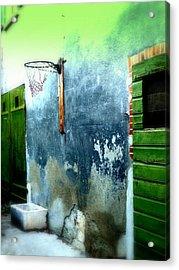 Basketball Court Acrylic Print by Funkpix Photo Hunter