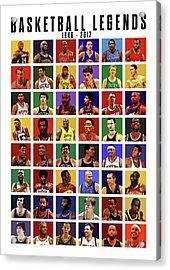 Basketball Legends Acrylic Print by Semih Yurdabak