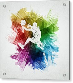 Basketball Player Art 04 Acrylic Print by Aged Pixel