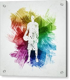 Basketball Player Art 10 Acrylic Print by Aged Pixel
