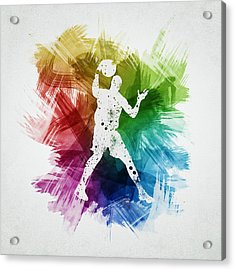 Basketball Player Art 11 Acrylic Print by Aged Pixel