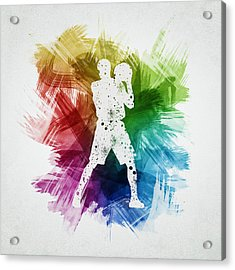Basketball Player Art 13 Acrylic Print by Aged Pixel