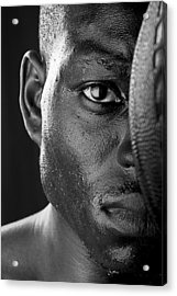 Basketball Player Close Up Portrait Acrylic Print