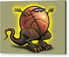 Basketball Saurus Rex Acrylic Print
