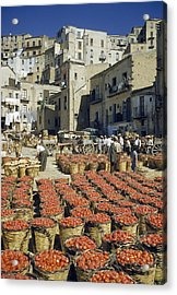 Baskets Filled With Tomatoes Stand Acrylic Print by Luis Marden