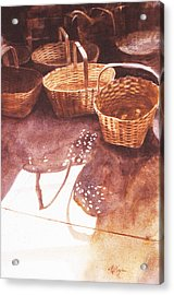 Baskets In The Sun Acrylic Print