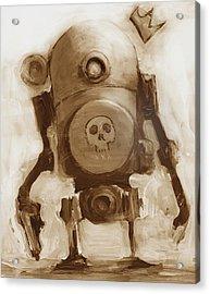 Basquibot Acrylic Print by Matthew Schenk