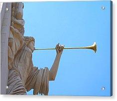 Bass Angel Acrylic Print by Lynnette Johns