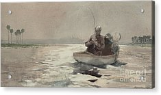 Bass Fishing  Florida, 1890 Acrylic Print by Winslow Homer