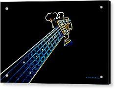 Bass Guitar Acrylic Print by Bill