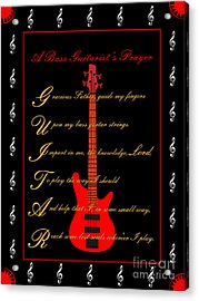 Bass Guitar_2 Acrylic Print by Joe Greenidge