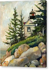 Bass Harbor Head Lighthouse Acrylic Print by Eve  Wheeler