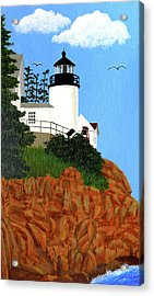 Bass Harbor Head Lighthouse Painting Acrylic Print by Frederic Kohli