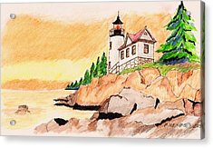 Bass Harbor Head Lighthouse Acrylic Print by Paul Meinerth