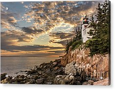 Bass Harbor Head Lighthouse Sunset Acrylic Print