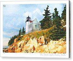 Bass Harbor Light Acrylic Print by Ernestine Grindal