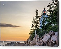 Bass Harbor Lighthouse Susnet  Acrylic Print