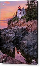 Acrylic Print featuring the photograph Bass Harbor Lighthouse by Expressive Landscapes Fine Art Photography by Thom