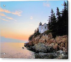 Bass Harbor Sunset II Acrylic Print
