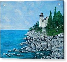 Bass Lighthouse Acrylic Print