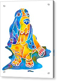 Acrylic Print featuring the painting Basset Hound Art Prints by Jo Lynch