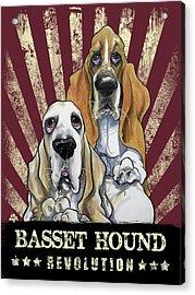 Basset Hound Revolution Acrylic Print