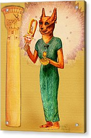 Bast Egyptian Cat Goddess Acrylic Print by Lilith Marie Haas