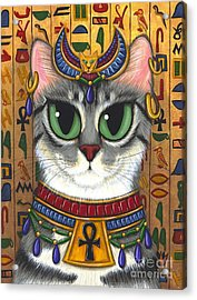 Acrylic Print featuring the painting Bast Goddess - Egyptian Bastet by Carrie Hawks