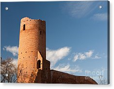 Bastille Of Czersk Castle After Renovation Acrylic Print by Arletta Cwalina