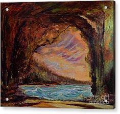 Bat Cave St. Philip Barbados  Acrylic Print